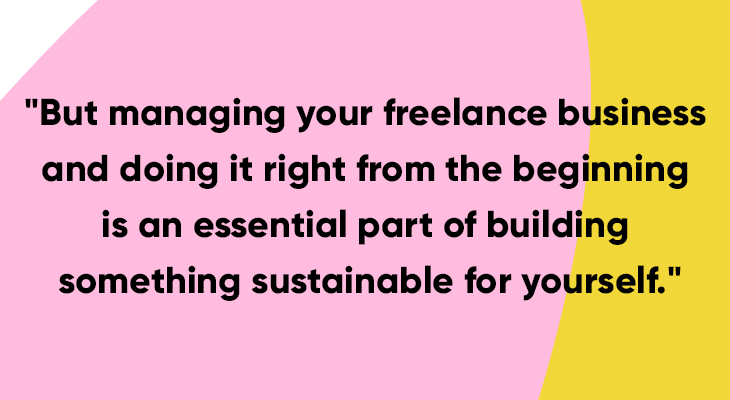 how to manage a freelance business